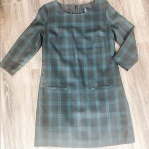 Gap tartan plaid shift dress